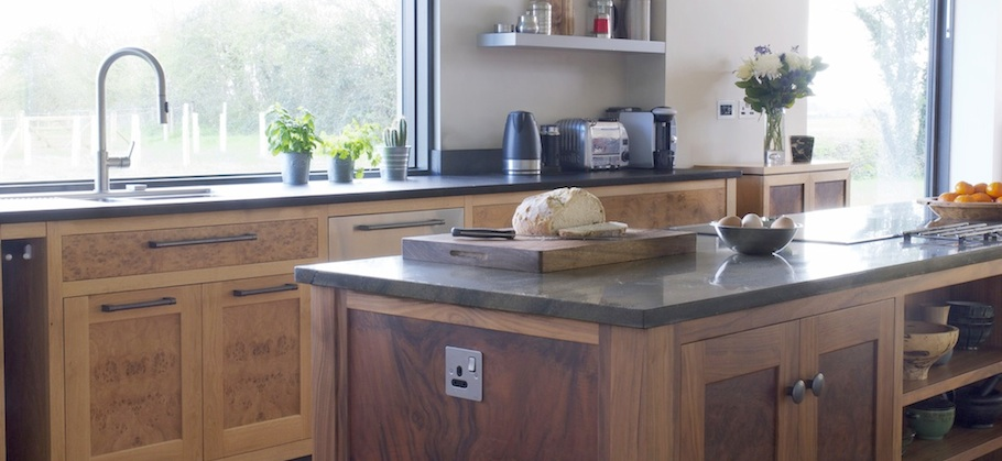 Bespoke Walnut & Burr Oak Kitchen