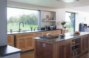 Bespoke Walnut & Burr Oak Kitchen panorama