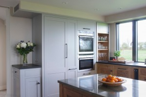 Bespoke Walnut & Burr Oak Kitchen painted units