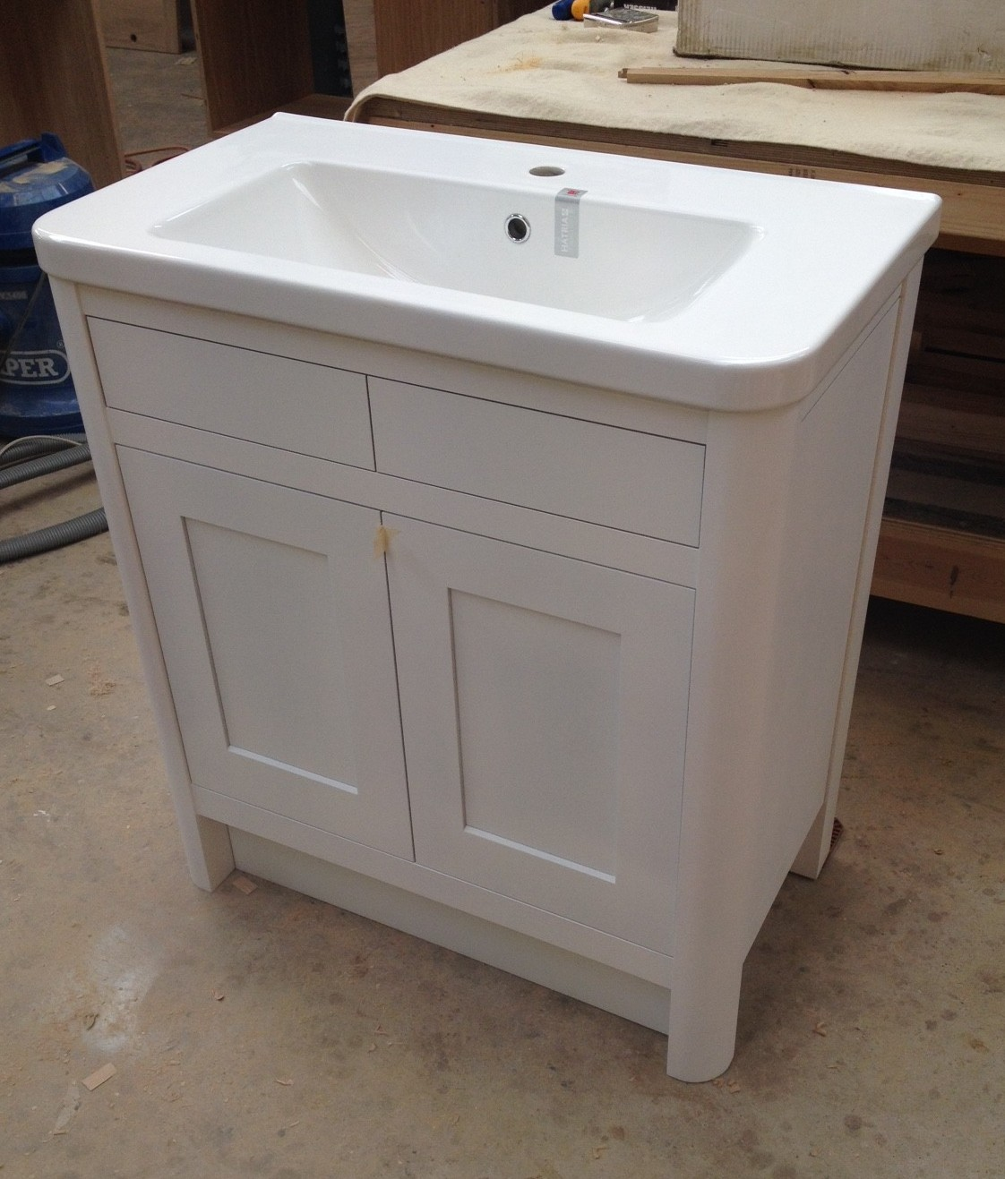 Bespoke Bathroom Vanity units – Oak and painted