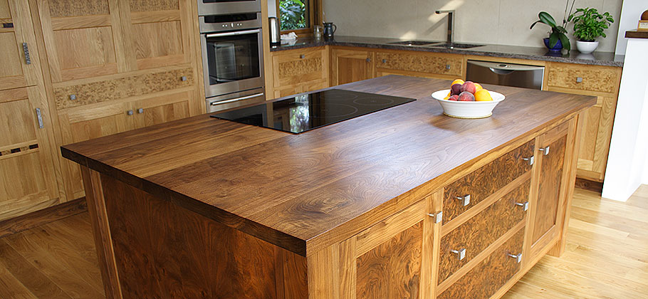 Burr Oak & Walnut Kitchen